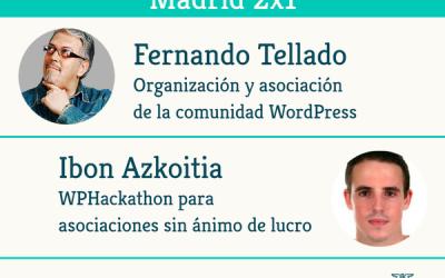 Presentación de ADEWEB en WordPress Madrid